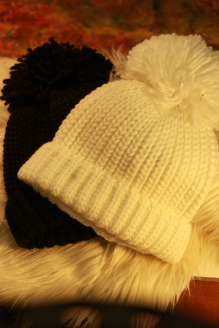 Chunnnnky Knitted Pom Beanie (Pack of 2)