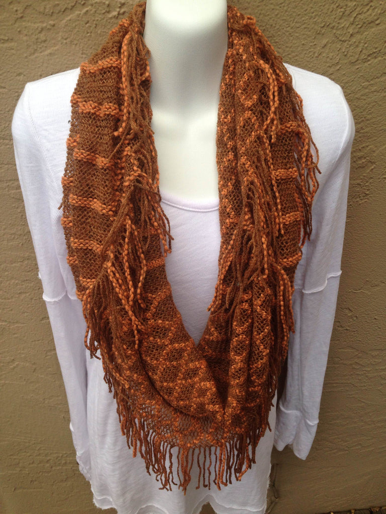 Checker Fringe Scarf (Pack of 2)