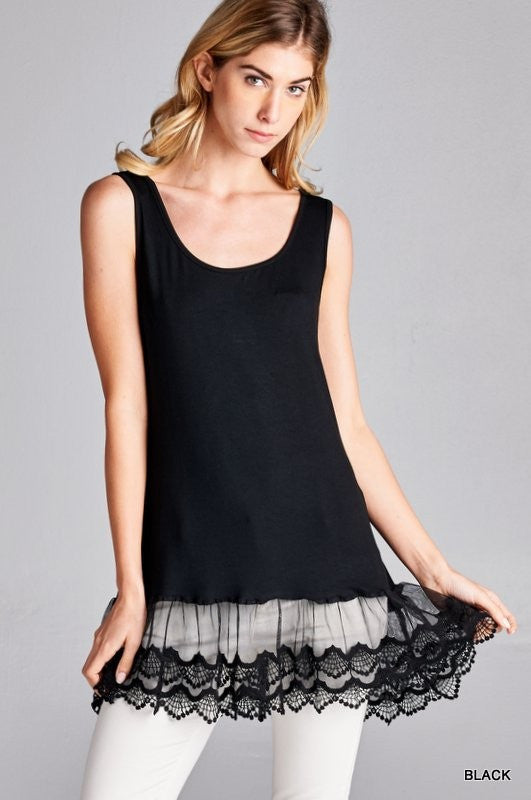 Tanks N Lace Top (2 colors)