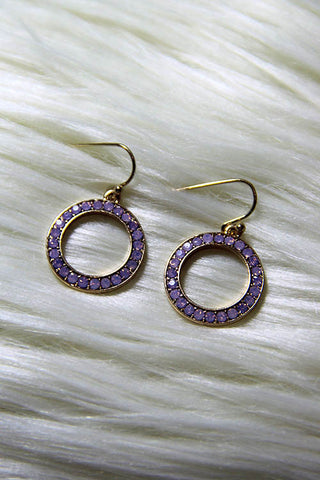 Lilac Glitz Earrings