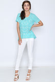 Jojo Short Sleeve Teal Top