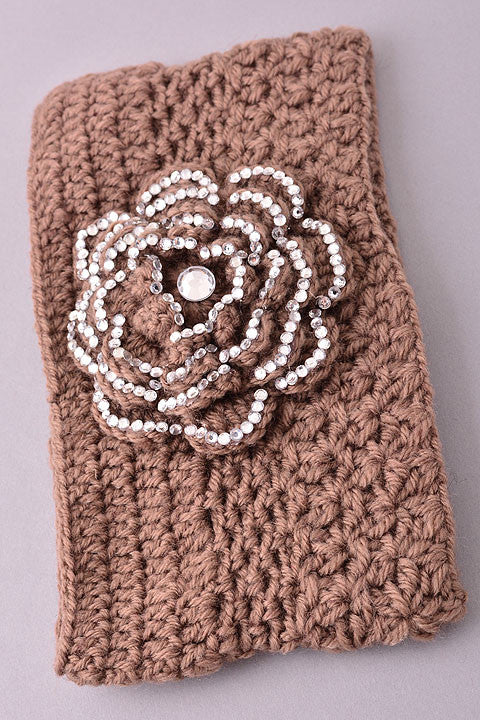 Floral Knit Headband (2 colors available)