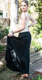 Crochet Waist Skirt - Black