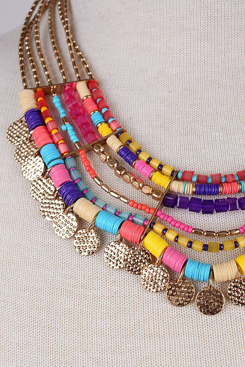 Tamsin Tribal Beaded Necklace