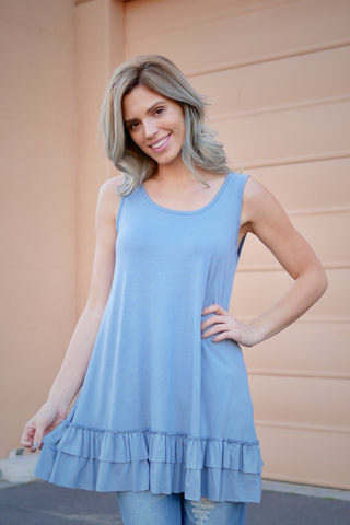Basic Ruffle Tank Top (Colors Available)