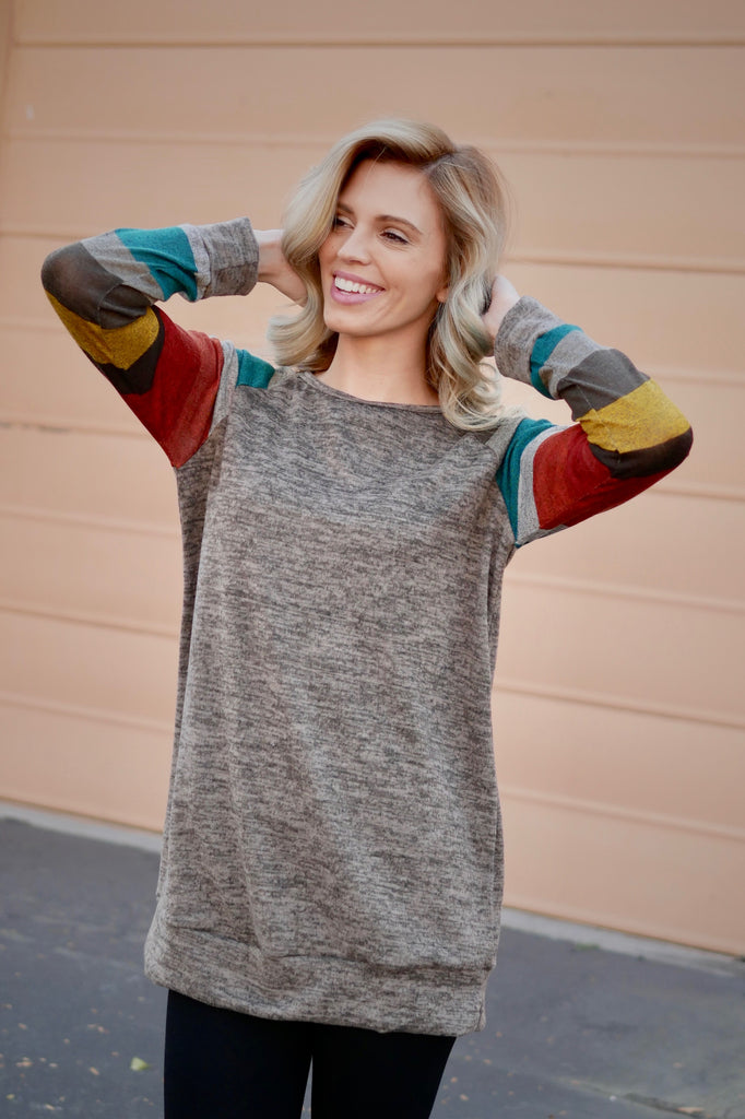 Rainbow Rays Sweater Top (All Sizes)