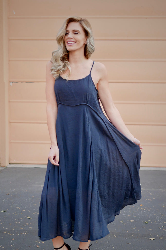 Forgotton Classic Dress - Navy