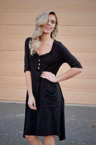 Henley Dress (2 colors)