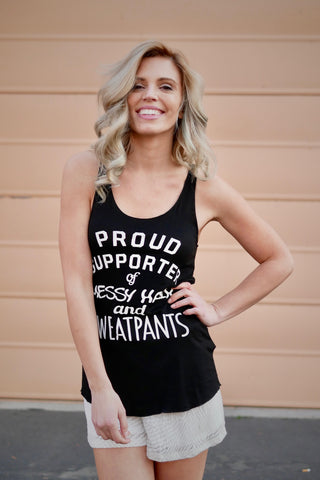 Proud Supporter Messy Hair Tank Top (3 colors)