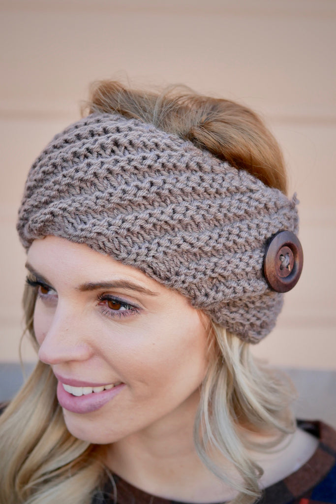 Diagonal Knit Headband
