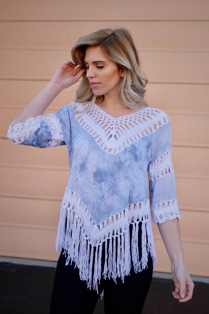 Skylight Fringed Top