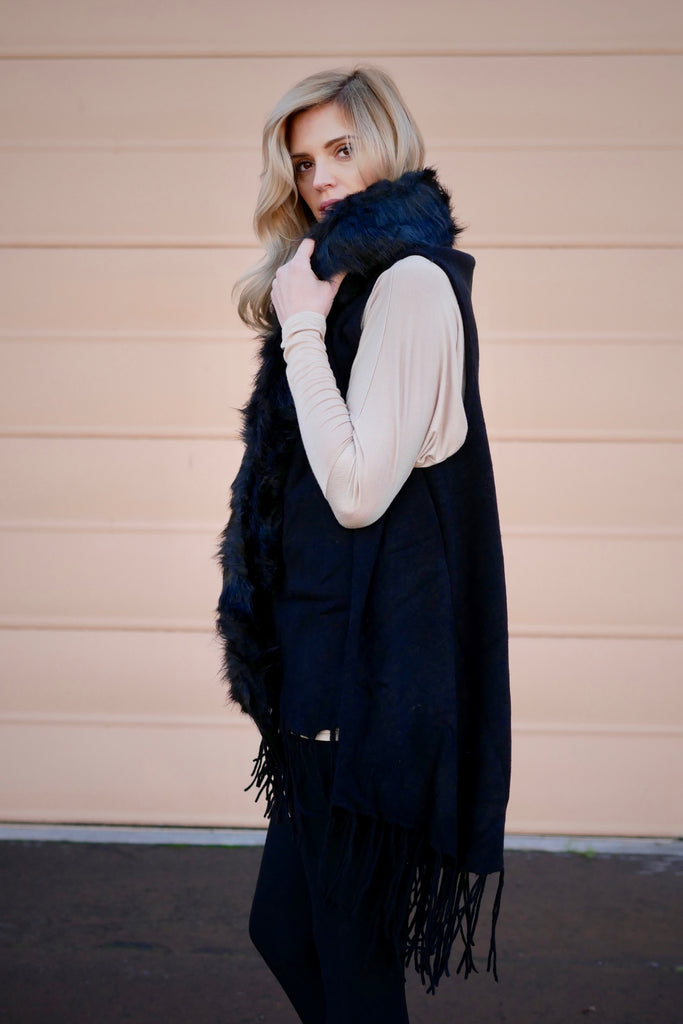 Wrap Me Up Faux Fur Vest