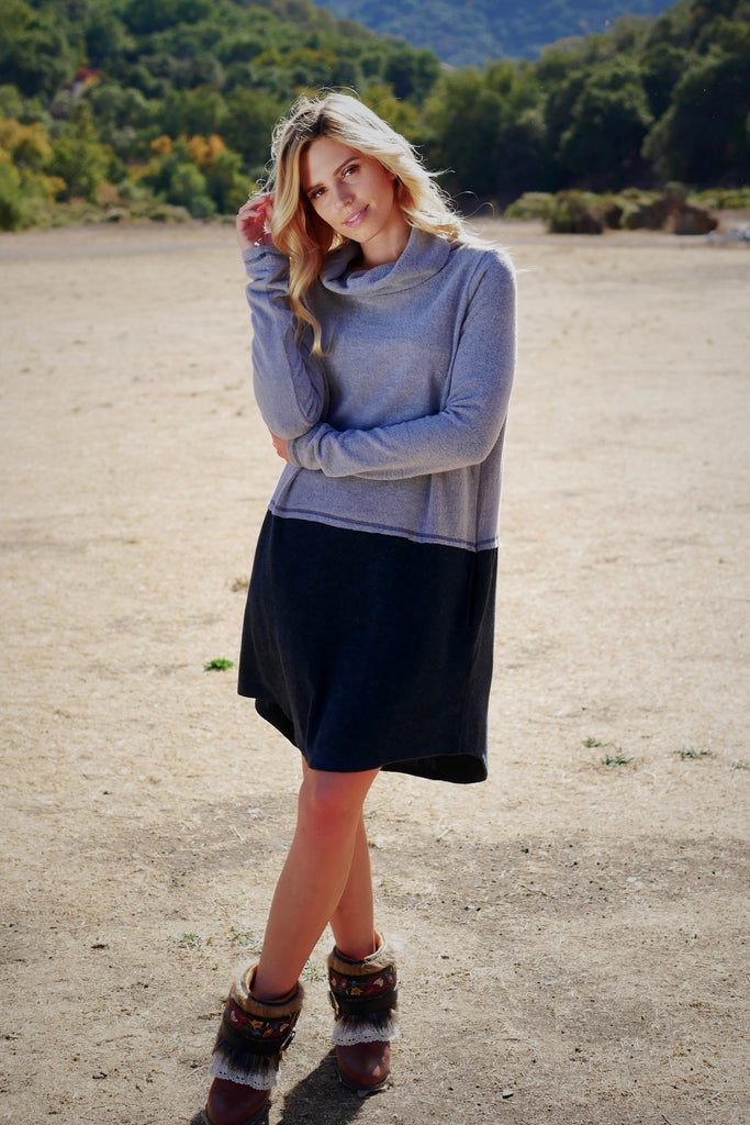 Second Wind Dress - Blue Grey