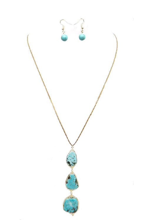 Turquoise Droplets Necklace