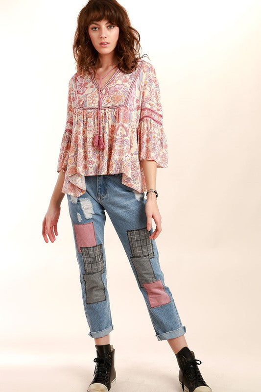 Beautiful Day Patchwork Denim