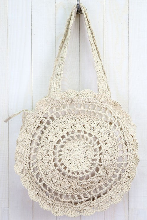 Sandbar Woven Tote Bag (Brown)