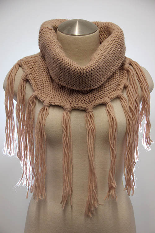 Radial Tassel Scarf (2 colors available)