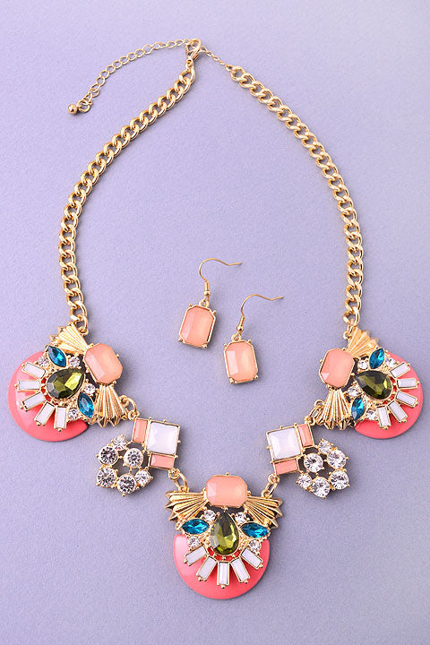 Candy Coated Necklace Set