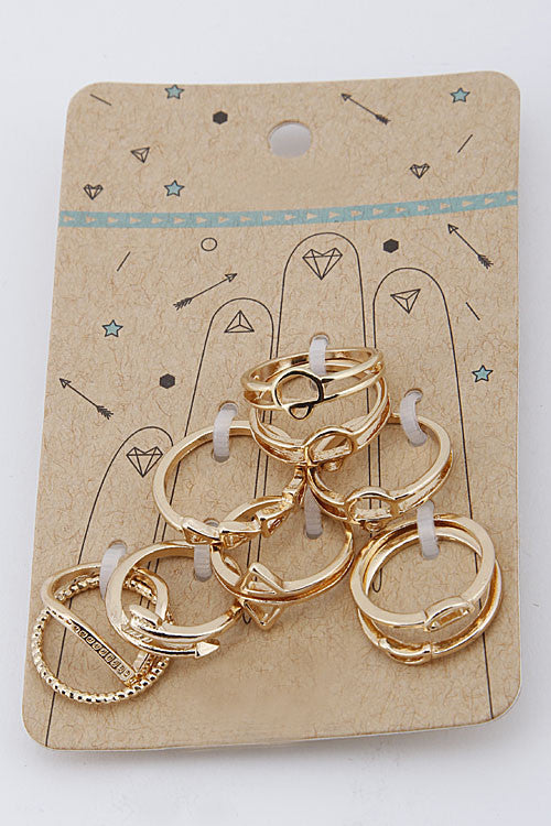 Mixed Shape Ring (gold color)