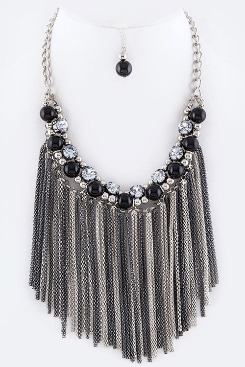 Tassel Chain Necklace Set