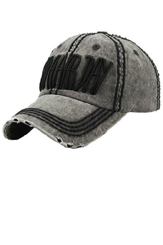 Bad Hair Day Baseball Cap - Charcoal Grey