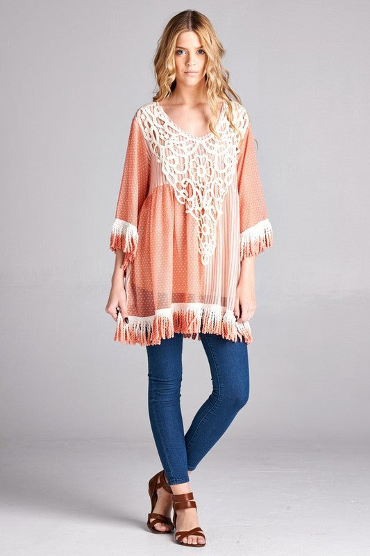 Sheer Delight Tunic Dress/Top