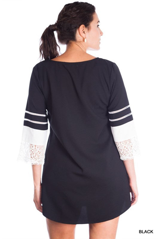 Crew Neck Day Top/Dress - Plus size