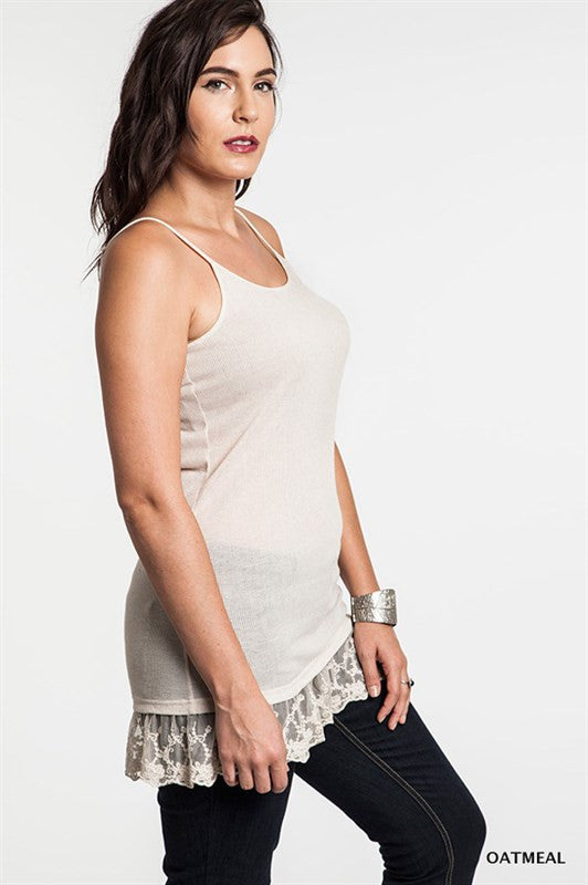 Cami Lace Top Extenders Plus Size
