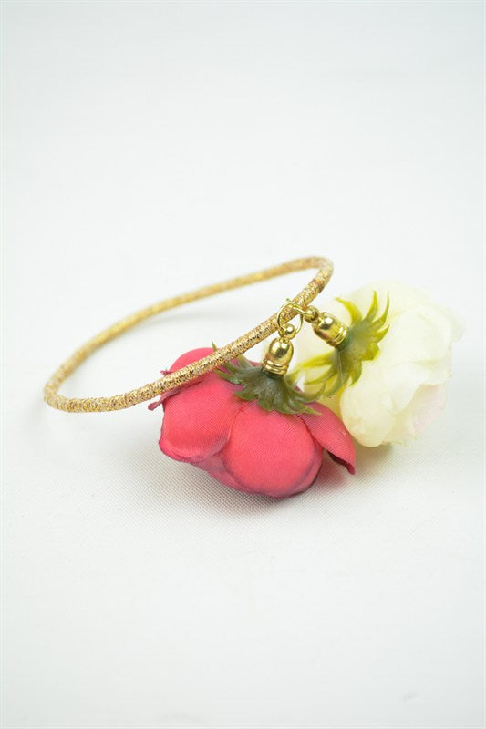 Rose Charm Hair Tie