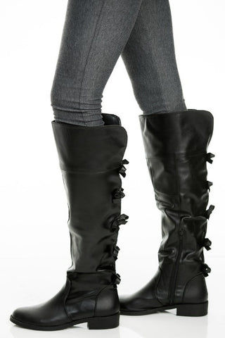 Kristen Pretty Bow Boots (2 Colors Available)