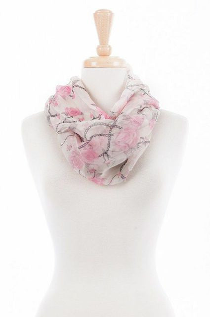Rose and Chain Infinity Scarf (Pack of 3)