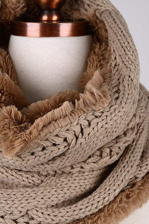 Cable Knit Cozy Time Infinity Scarf