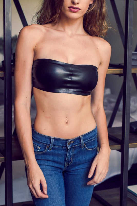 Faux Leather Bandeau
