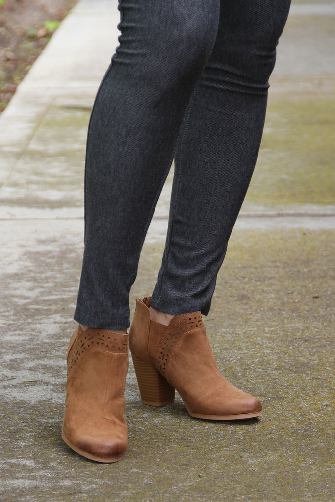 Angela Aztec Eyelet Booties