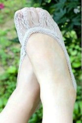 All Lace Heel Socks