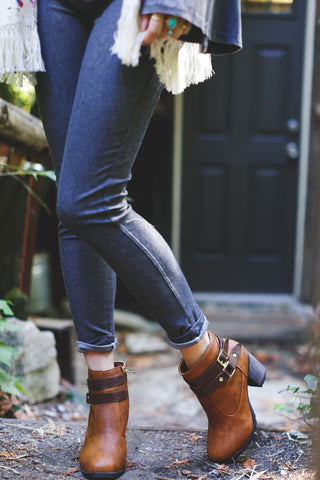 Distract Ankle Strap Bootie