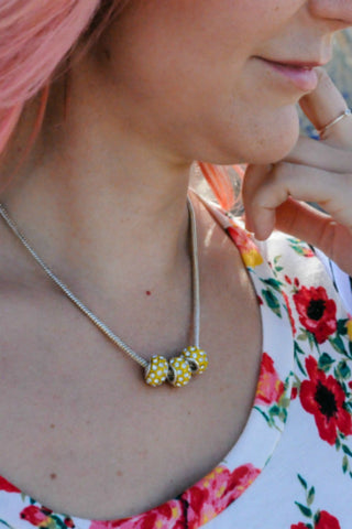 Yellow Disco Necklace