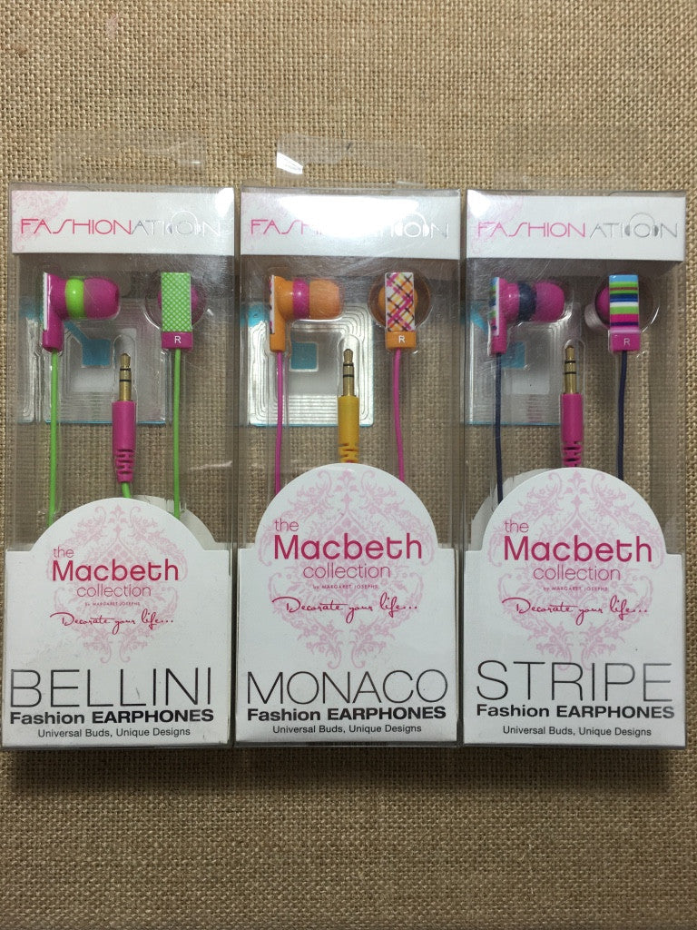 Stripe Fashion Earphones (3 colors available)