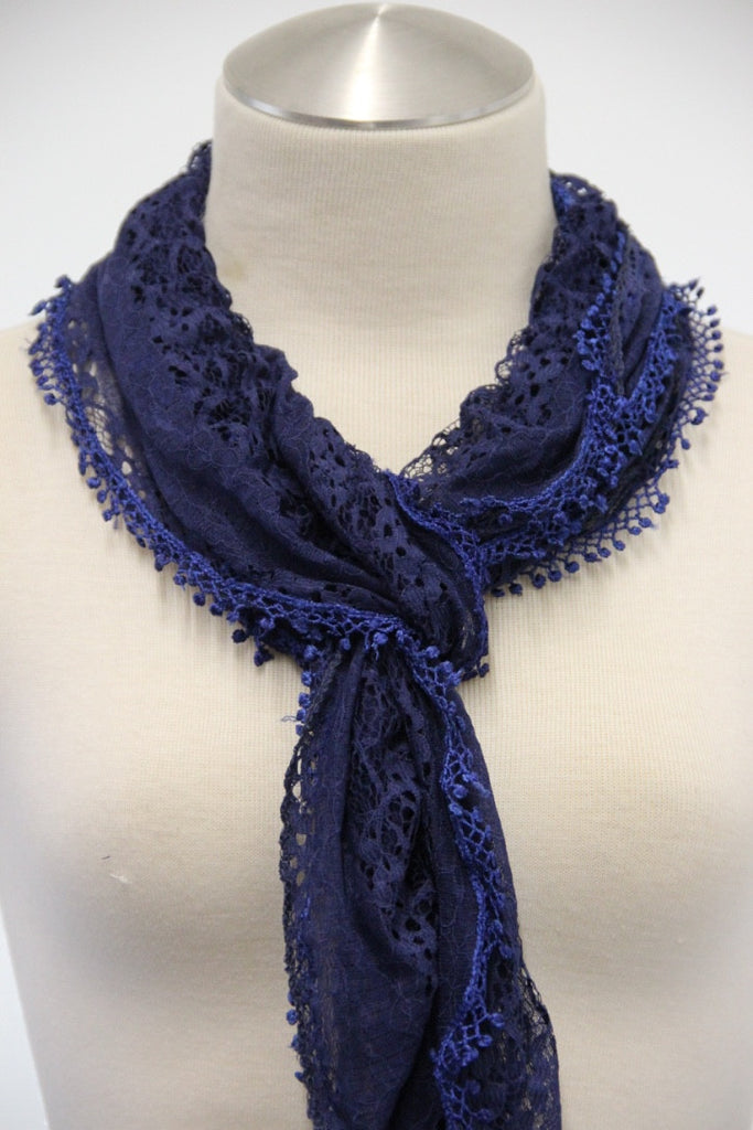 Mini Tassel Drop Scarf (2 colors available)