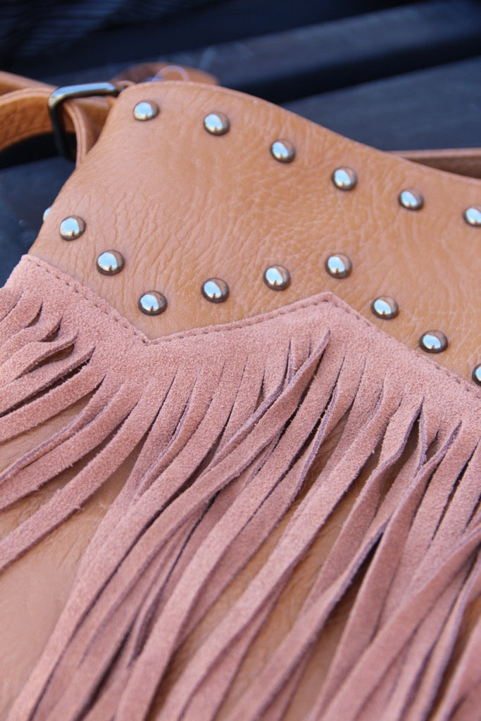 Studs and Fringe Bag