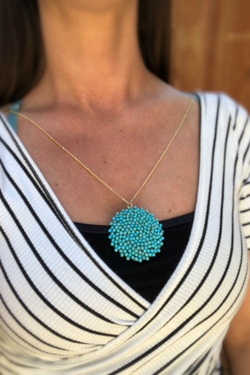 Turquoise Mesh Necklace