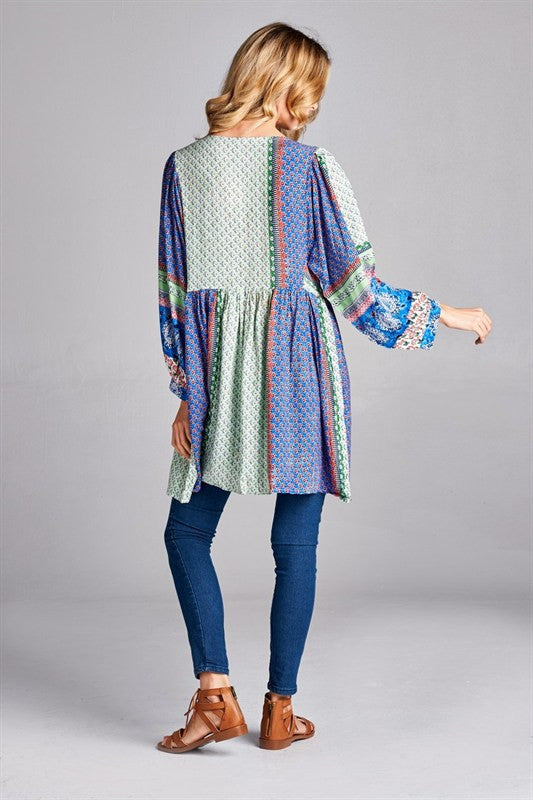 Into You Paisley Tunic/Top