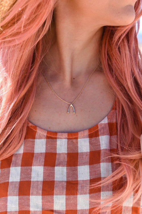 Tiny Wishbone Necklace