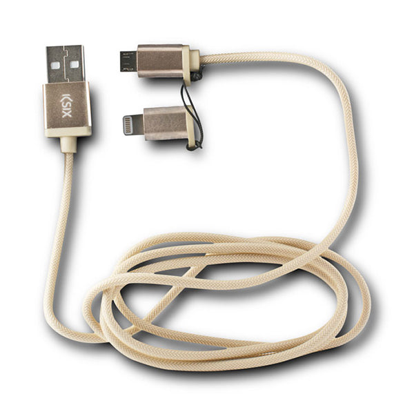 Cable USB a Micro USB y Lightning KSIX