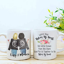 Load image into Gallery viewer, Custom Best Friend Coffee Mug for Women - Choose Hair - Skin Color - Personalized Best Friend Gifts Mug Cup w Names for Besties, Bff, Good Friends Birthday - Moving Away, Galentines Day Gifts 11 Oz