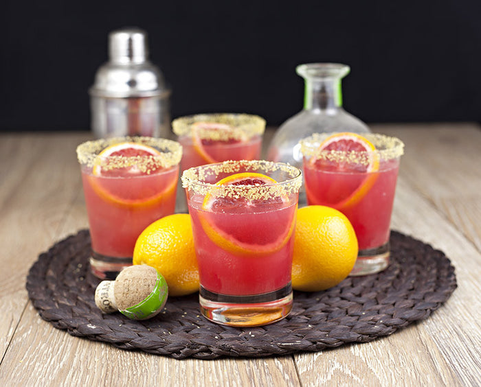 Recipe: Blood Orange Cocktail with Gold Margarita Salt