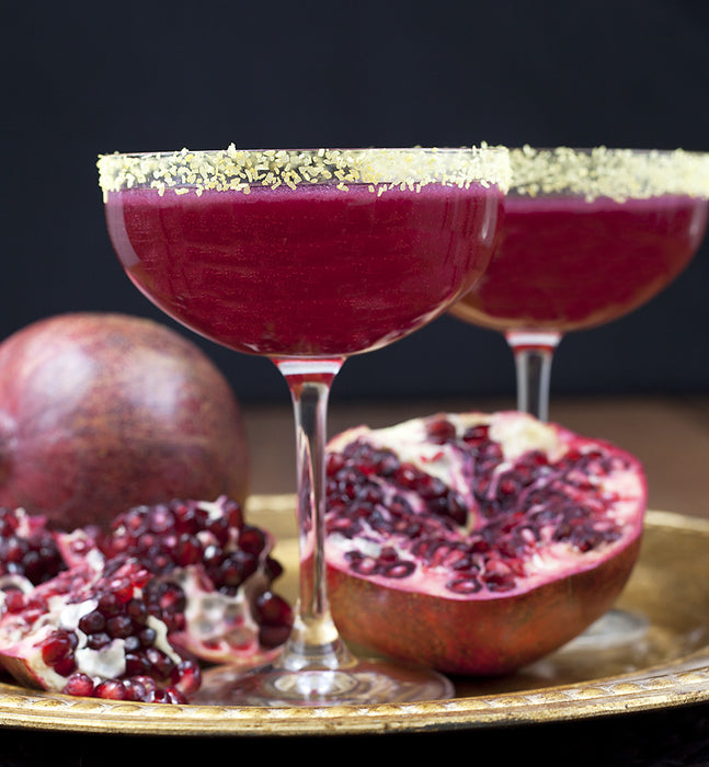 Recipe: Pomegranate Margarita with Gold Margarita Salt