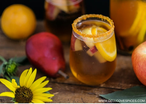 Autumn Apple Sangria cocktail recipe by Dell Cove Spice Co