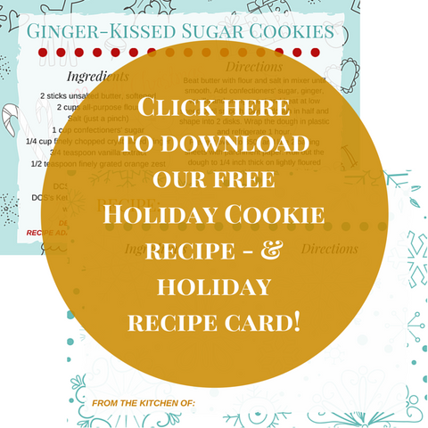 Free cookie recipe card and free holiday blank recipe card free download