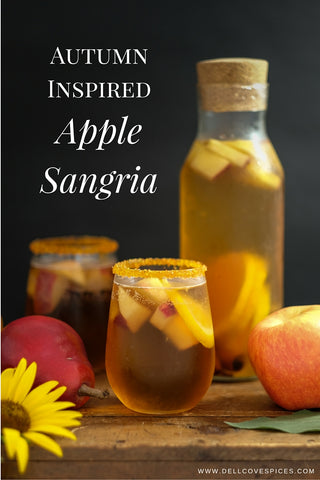 Autumn Apple Sangria cocktail and mocktail recipe